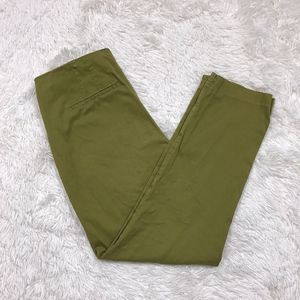 J Jill Green Ankle Pants Tapered Casual Stretch